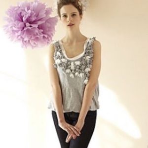 Anthropologie C. Keer Grey Pratia Banded Tank